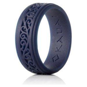 Kauai Unisex Silicone Wedding Ring , Royal Blue